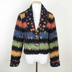 VTG LUCIA LUKKEN Striped Floral Western Jacket